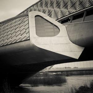 Zaragoza, Expo 2008, brug van Zaha Hadid