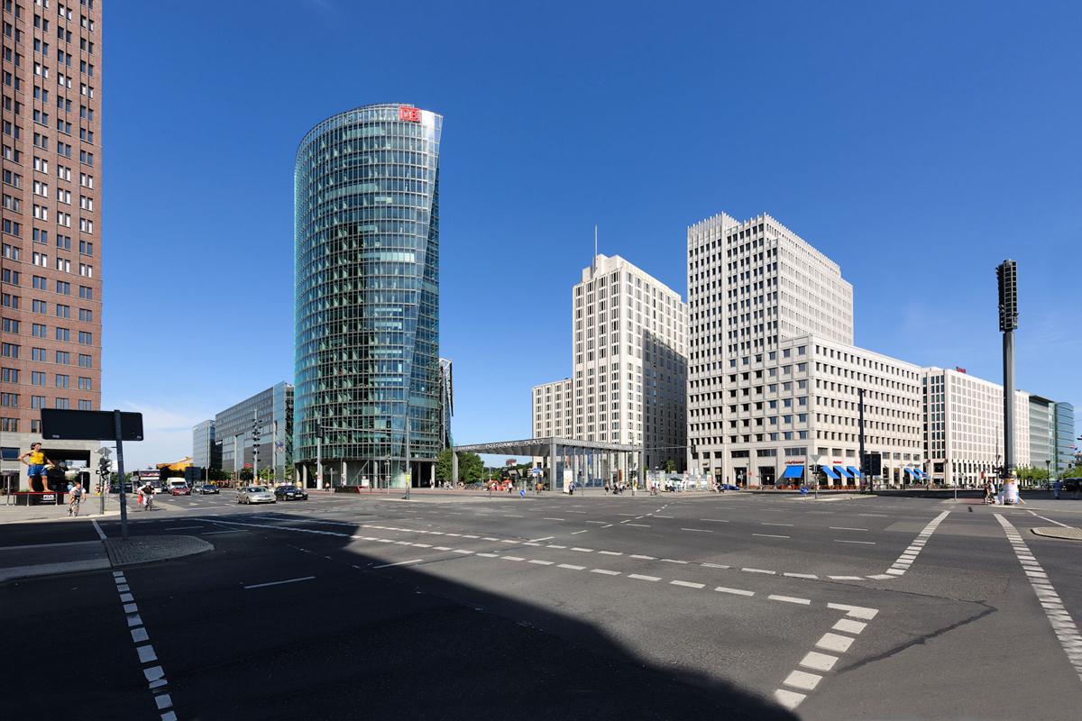 Potsdamer Platz Berlijn Met Rechts Kantoren Van Hans Kolhoff