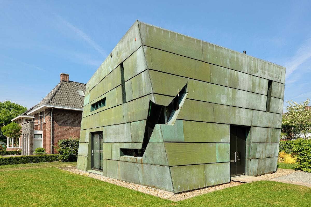 Groen koperen huis bachweg amersfoort architect rik lagerwaard - Huis interieur architectuur ...